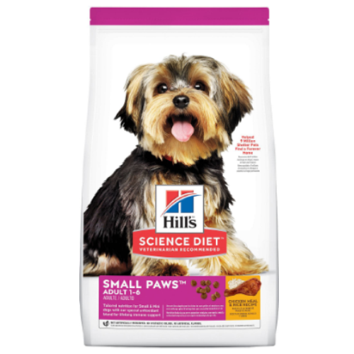 Hill's Science Diet Adult Small Paws Chicken Meal & Rice Recipe dog food