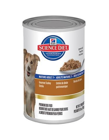 Hill's Science Diet Mature Adult 7+ Canned Gourmet Turkey Entrée