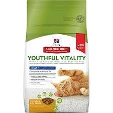 Hill's Science Diet Youthful Vitality Adult 7+ Chicken & Rice Recipe Dry Cat Food