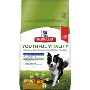 [CNY PROMO - Buy 1 FREE 1] Hill's Science Diet Youthful Vitality Adult 7+ Chicken & Rice Recipe Dry Dog Food