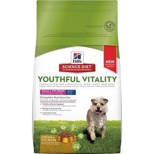 Hill's Science Diet Youthful Vitality Adult 7+ Small & Toy Breed Chicken & Rice Recipe Dry Dog Food