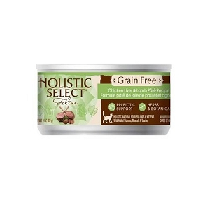 Holistic Select GRAIN FREE Canned Chicken Liver & Lamb Pate Cat Food
