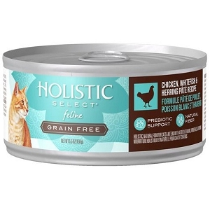 Holistic Select GRAIN FREE Canned Chicken, Whitefish & Herring Pate Cat Food