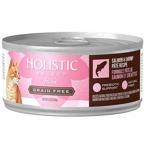 Holistic Select GRAIN FREE Canned Salmon & Shrimp Pate Cat Food