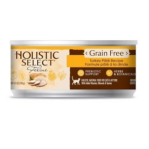 Holistic Select GRAIN FREE Canned Turkey Pate Cat Food