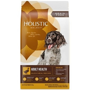 Holistic Select Grain Free Duck Meal Adult Dry Dog Food