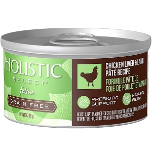 Holistic Select GRAIN FREE Feline Chicken Liver & Lamb Pate