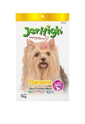 JerHigh Banana Fruity Stick Dog Treat