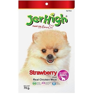 JerHigh Strawberry Fruity Stick Dog Treat