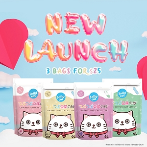 [NEW LAUNCH - 3 FOR $25] Jolly Cat Crushed Tofu Cat litter