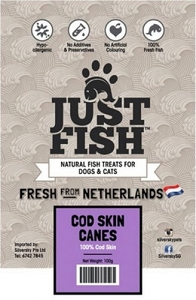 Just Fish Cod Skin Canes Dog & Cat Treats