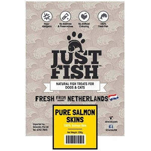 Just Fish Pure Salmon Skins Dog & Cat Treats