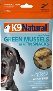 K9 Natural Freeze Dried Green Lipped Mussel Snacks