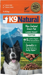K9 Natural Freeze Dried Lamb Topper 142g