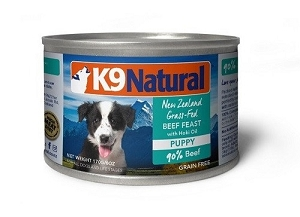 K9 Natural Puppy Beef and Hoki Canned Food 170gm