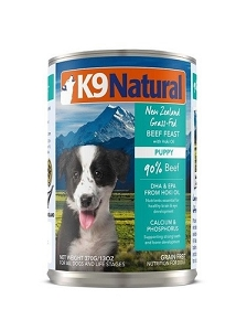 K9 Natural Puppy Beef and Hoki Canned Food 370gm