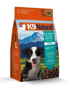K9 Natural Puppy Freeze Dried Beef and Hoki 1.8kg