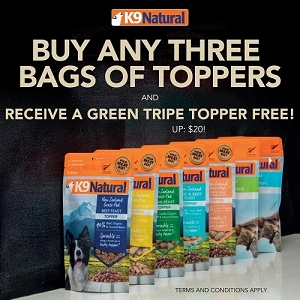 [JULY 2020 PROMO - Buy 3 Free 1] K9 Natural Freeze Dried Topper