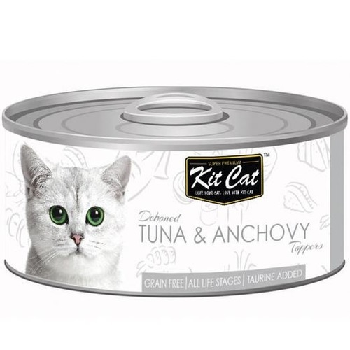 KitCat Canned Deboned Tuna & Anchovy Toppers Cat Food 80gm