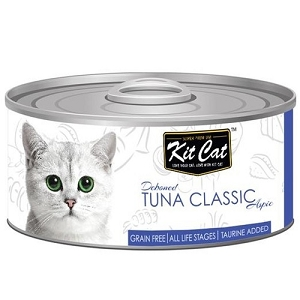 KitCat Canned Deboned Tuna Classic Cat Food 80gm