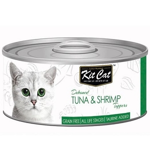 KitCat Canned Deboned Tuna & Shrimp Toppers Cat Food 80gm