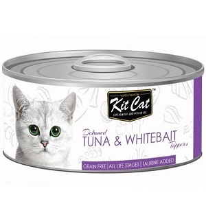 KitCat Canned Deboned Tuna & Whitebait Toppers Cat Food 80gm
