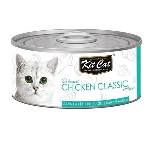 KitCat Canned Grain-Free Deboned Chicken Classic Cat Food 80gm