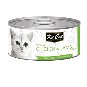 KitCat Canned Grain-Free Deboned Chicken & Lamb Cat Food 80gm