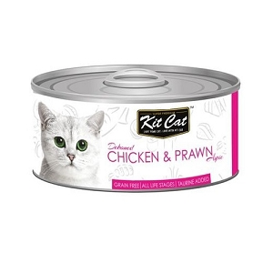 KitCat Canned Grain-Free Deboned Chicken & Prawn Cat Food 80gm