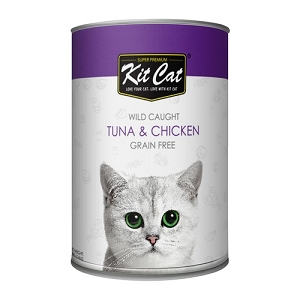 KitCat Canned Super Premium Atlantic Tuna With Tender Chicken Cat Food
