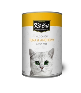 KitCat Canned Super Premium Atlantic Tuna With Whole Anchovies Cat Food