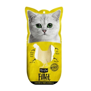 KitCat Fillet Fresh Chicken & Fiber (Hairball) 30gm