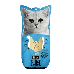 KitCat Fillet Fresh Chicken & Smoked Fish 30gm