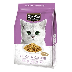 KitCat Premium Chicken Cuisine (Hairball Control) Dry Cat Food 5kg