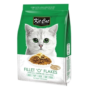KitCat Premium Fillet 'O' Flakes (Increase Appetite) Dry Cat Food 1.2kg