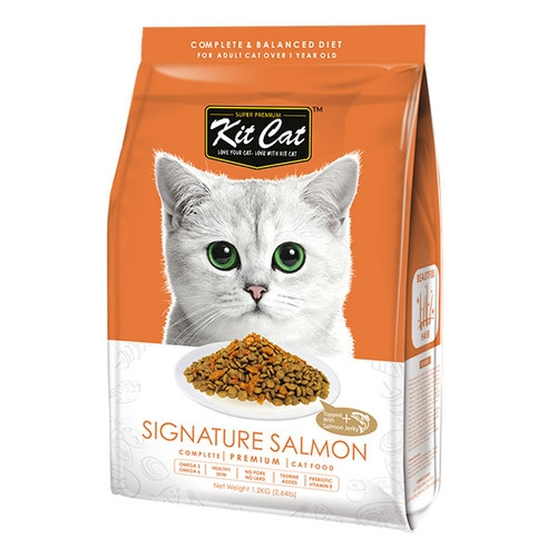 KitCat Premium Signature Salmon (Beautiful Hair) Dry Cat Food 1.2kg