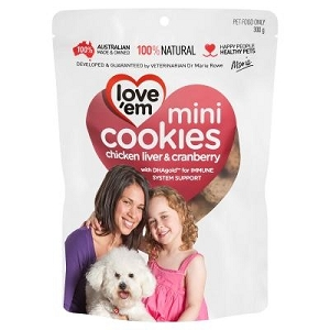 Love'em Chicken & Cranberry Mini Cookies Dog Treat 430gm