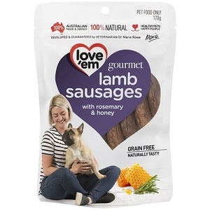 Love'em Gourmet Lamb Sausages 120gm