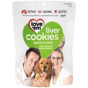 Love'em Lamb & Mint Liver Cookies Dog Treats 450gm