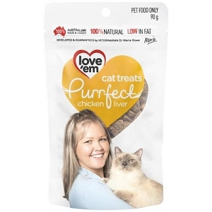 Love'em Purrfect Chicken Liver Cat Treats 90gm