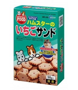 Minimal LAND Biscuits with strawberry paste for hamsters