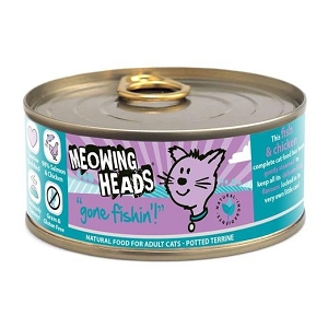 Meowing Heads Canned Gone Fishin Salmon and Chicken Grain Free Cat Food