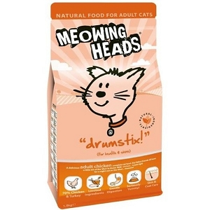 Meowing Heads Chicken Drumstix Adult Dry Cat Food 1.5kg