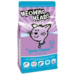 Meowing Heads Gone Fishin' Dry Cat Food