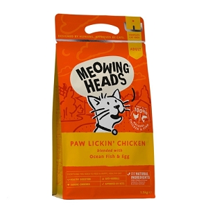 Meowing Heads Paw Lickin' Chicken Dry Cat Food
