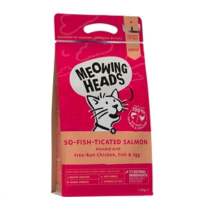 Meowing Heads So-Fish-Ticated Salmon Dry Cat Food