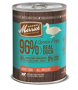 Merrick Canned Grain Free 96% Real Duck