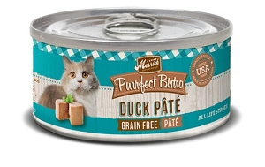 Merrick Canned Purrfect Bistro Grain Free Classic Duck Pate Cat Food
