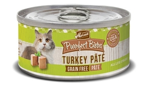Merrick Canned Purrfect Bistro Grain Free Classic Turkey Pate Cat Food