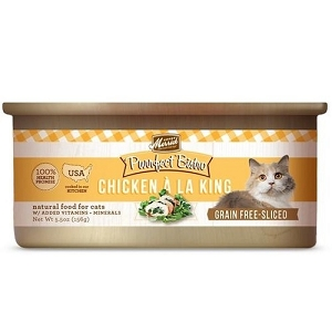 Merrick Canned Purrfect Bistro Grain Free Sliced Chicken À La King Morsels in Gravy Cat Food